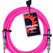 DIMARZIO INSTRUMENT CABLE 18` NEON PINK EP1718SSPK