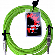 DIMARZIO INSTRUMENT CABLE 18` NEON GREEN EP1718SSGN